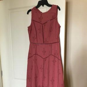 Joie Halone Eyelet Lace Hi-Lo Midi Dress